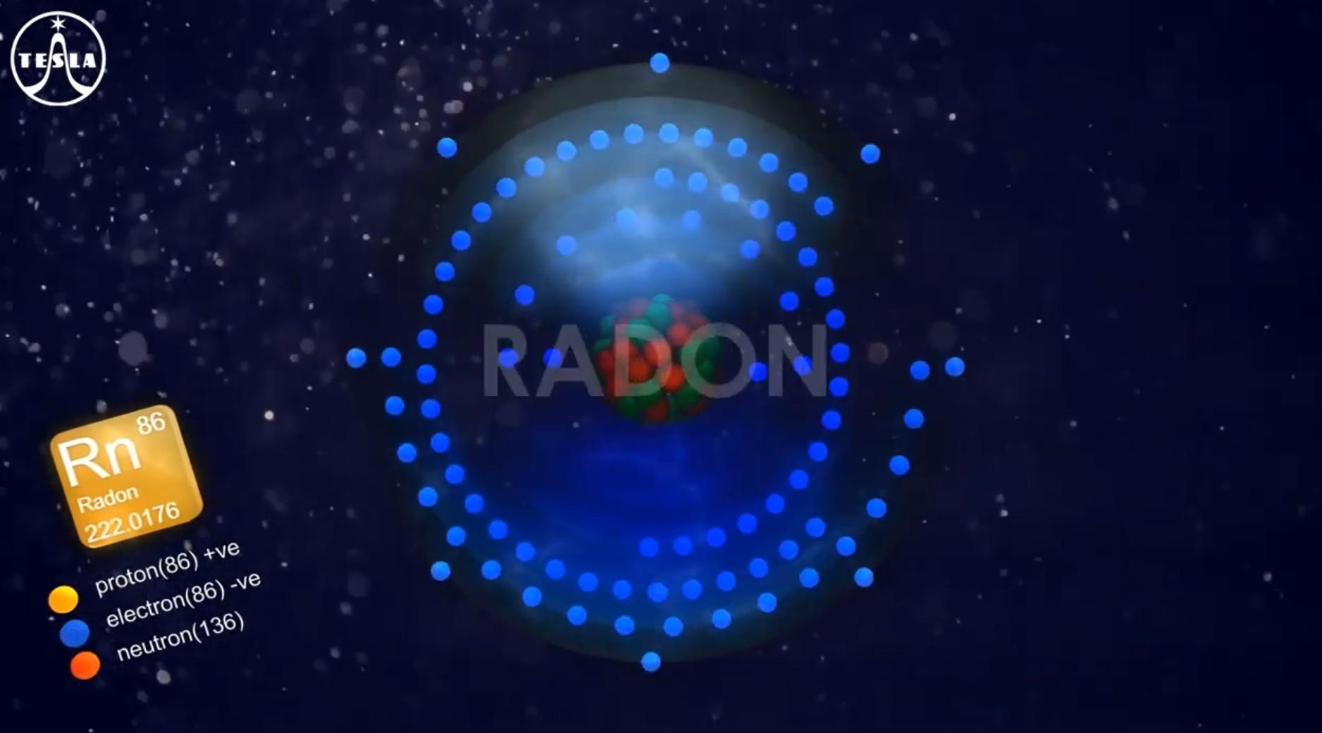Radon molecule
